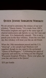 Queen Jennie Sorghum Whiskey