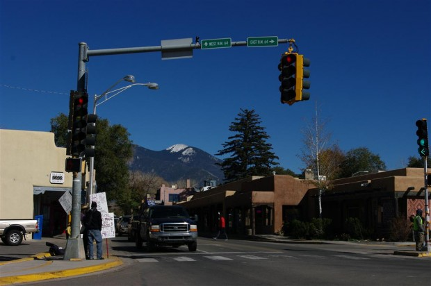 Taos protesters