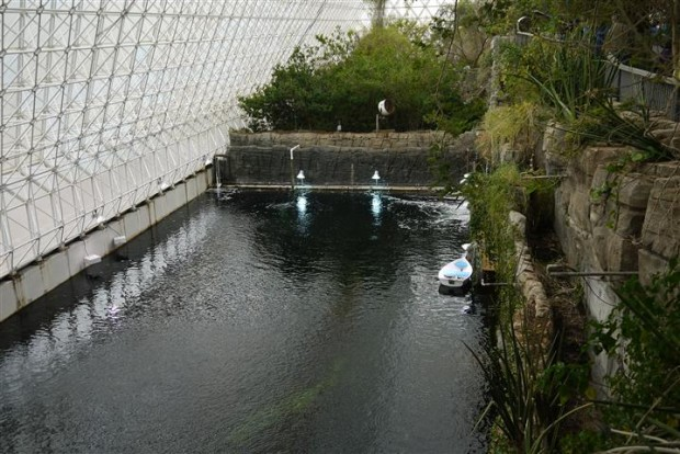 "The Biosphere 2 ""ocean"" area."