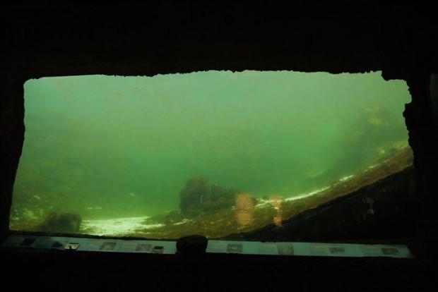 Under the ocean.