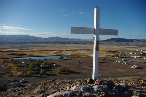 Climb a small hill above the town of Tecopa for a sweet view of the sewage lagoon.