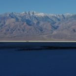 Badwater basin at sunrise.