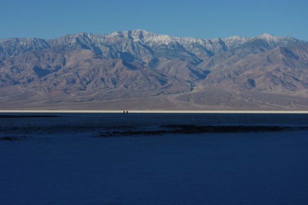 Badwater basin after sunrise.