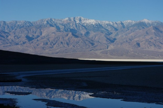 Badwater and Telescope Peak.