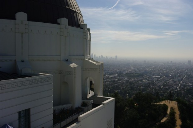 The observatory and downtown LA.