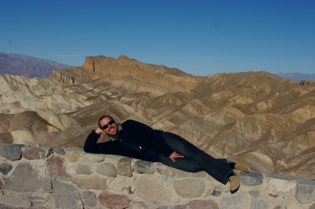 Paul doing the Burt Reynolds on Zabriskie Point.