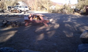 Careful where you sit in Panamint Springs.