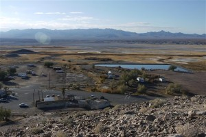 Tecopa hot springs from above.