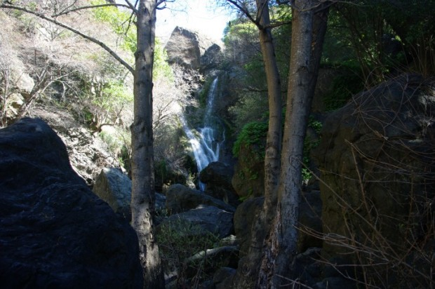 An unnamed waterfall in Salmon Creek.