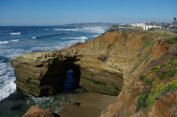 Sunset cliffs, looking north.