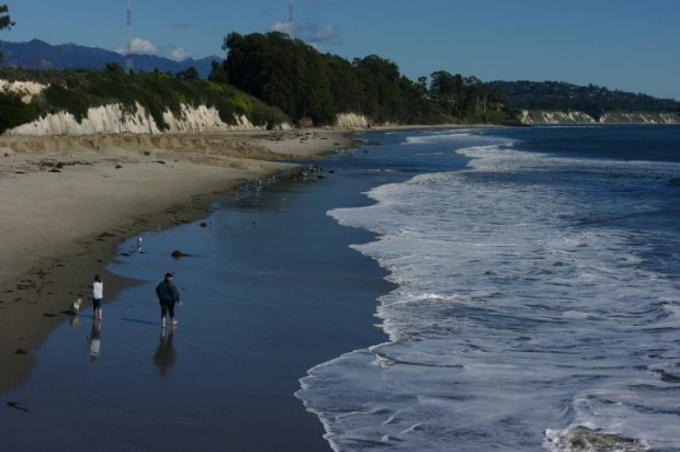 The beach outside Santa Barbara.
