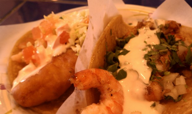Shrimp taco from TJ Oyster Bar.