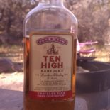 Ten High Kentucky Bourbon Whiskey.