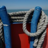 Ropes on the ferry.