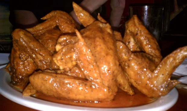 Wings at The Peanut Bar, Kansas City.