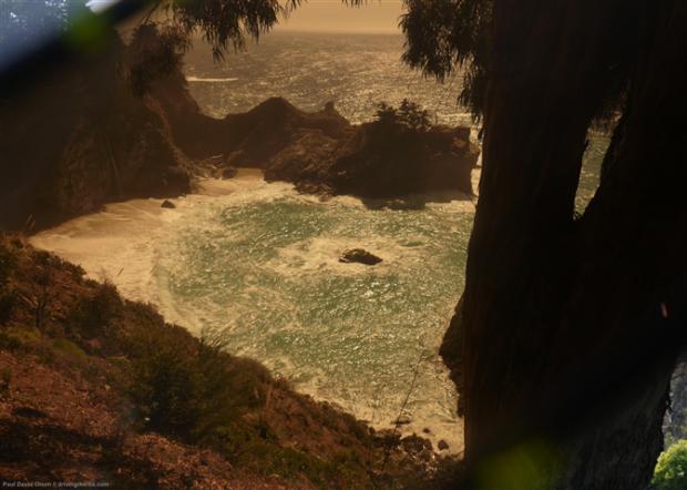 McWay Falls (shot through my sunglasses), Big Sur, California