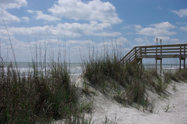 From Lisa: beach access at Folly Beach.