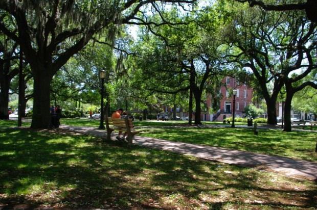 Oglethorpe Square, named after the city's planner.