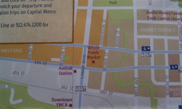 """Places of Interest"" on the tourist map = train station, YMCA, grocery store. Grocery store?"