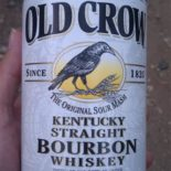Old Crow Kentucky Straight Bourbon Whiskey. Empty already, unfortunately.