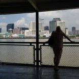 You get great views of downtown New Orleans from the ferry.