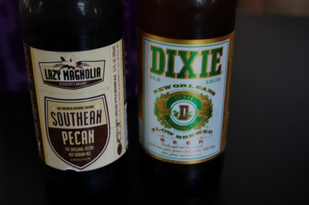 Southern Pecan brown ale and Dixie regular lager.
