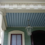 A porch ceiling in the Garden District.
