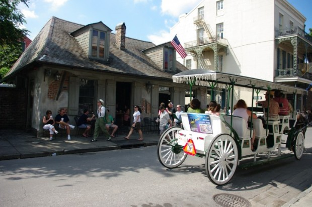 Lafitte's Blacksmith Shop Bar, the oldest bar in America.