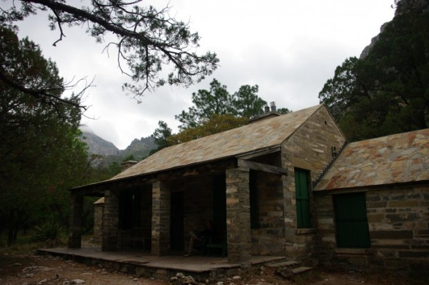 Pratt Cabin -- who would have thought of covering a roof with stone? A geologist, that's who.