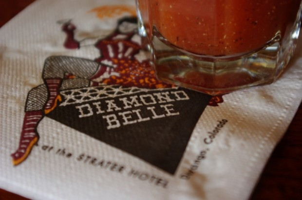 You can't leave town without having a drink at the Diamond Belle Saloon.
