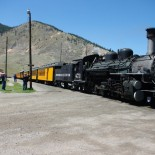 The Durango & Silverton line pulls right into town.