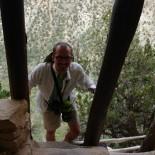 Paul summiting the 32-foot ladder.