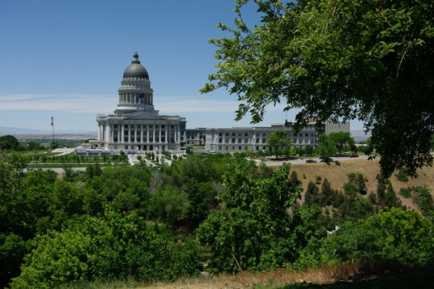 The Utah State Capitol building.