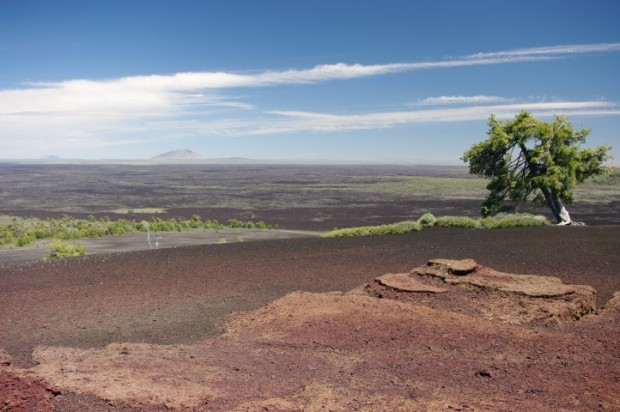 The lava flow from the top of Inferno Cone.
