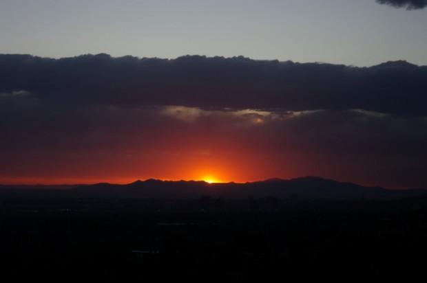 Salt Lake sunset.
