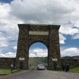 The original gate in Gardiner, MT.