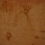 Handprints in the gorge.