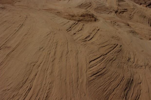 Petrified sand.