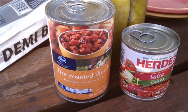 To make gazpacho: open cans, combine.