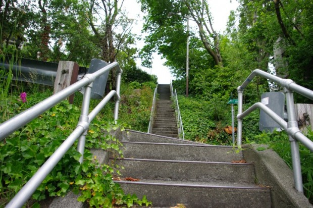 There are lots of hills in Seattle. Here's a staircase for your convenience.