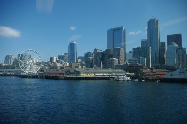 Downtown Seattle from the Bainbridge Island ferry.