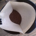 My caffeine source: the Melitta Perfect Brew Coffee Cone.