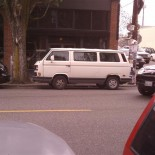 Hipster van in the hipster neighborhood of Ballard.