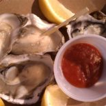 Oysters at Oyster Shack, South Bend, WA.