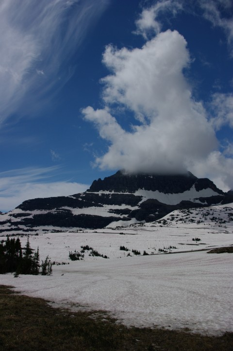 Dramatic clouds at Logan Pass.