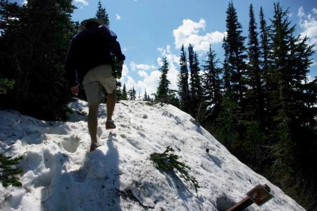 Paul on the Dege Peak trail.