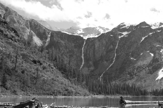 Paul's black and white take on Avalanche Lake.