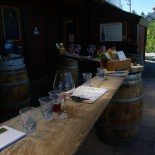 "The other side of the tasting ""room."""