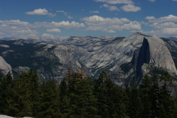Half Dome, to the right.