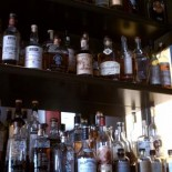 Wall of whiskey.
